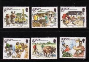 Jersey  Sc 572-7 1991 Overseas Aid stamps mint NH