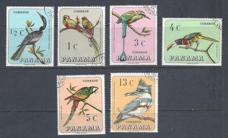 Panama Used 478a-e Birds Fauna