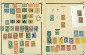 El Salvador Mint & Used Hinged on Old Scott Specialty Pages 1867-1952