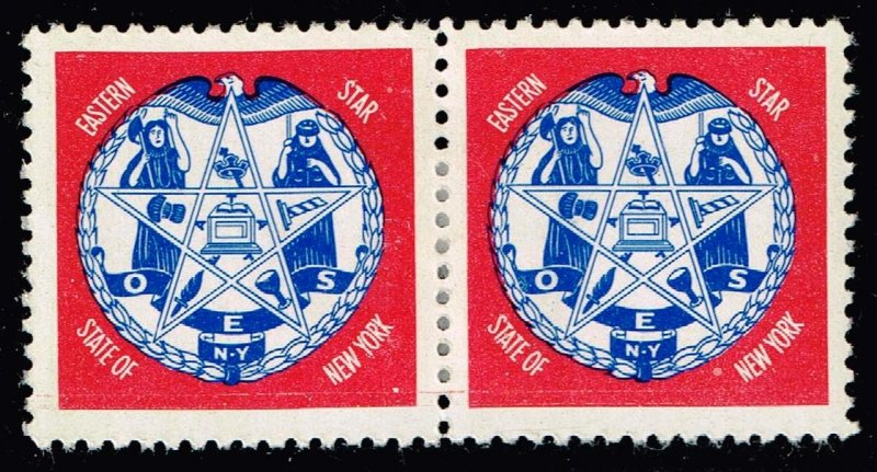 US STAMP  O.E.S. Masonic CHARITY MH/OG PAIR Stamps COLLECTION LOT #3