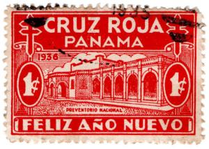 (I.B) Panama Cinderella : Red Cross Christmas Seal 1c (1936)