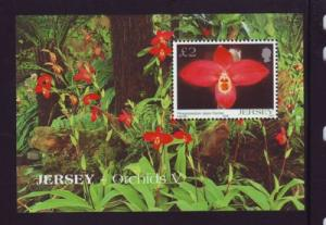 Jersey Sc 1129 2004 Orchids stamp sheet mint NH