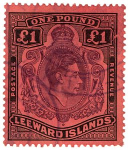 (I.B) Leeward Islands Revenue : Duty Stamp £1