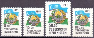Uzbekistan. 1993. 30-33. Standard, mail. MNH.