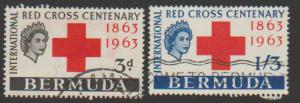 Bermuda SG 195 - 200 set of 6  VFU