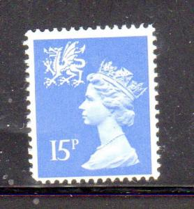 GREAT BRITAIN-WALES & MONMOUTHSHIRE #WMMH25  15p  MACHINS MINT  VF NH  O.G