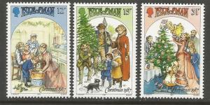 ISLE  OF MAN 344-346  MNH, VICTORIAN FAMILY SCENE DRAWINGS