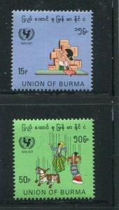 Burma #225-6 MNH