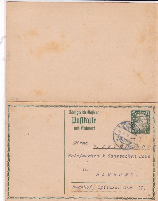 german 1916 used stamps letter card ref 21071 / HipStamp