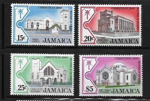 JAMAICA,491-494  MINT HINGED, CHRISTMAS 1980