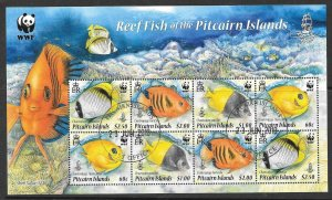 PITCAIRN ISLANDS SGMS811 2010 WWF REEF FISH FINE USED
