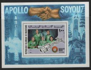 MAURITANIA, C159, SOUVENIR SHEET, HINGED, 1975, Astronauts and Cosmonauts