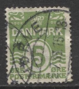 Denmark - Scott 90 - Definitive Issue -1930 - Used - Single 5o Stamp