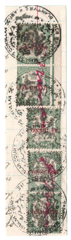 (I.B-BOB) Rhodesia/British Central Africa Revenue : Consular 2/6d