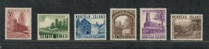 Norfolk Island Sc#13-18 M/NH/VF, Cv. $38
