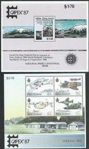NEW ZEALAND 1987 CAPEX pair souvenir sheets MNH cat NZ$50..................60718