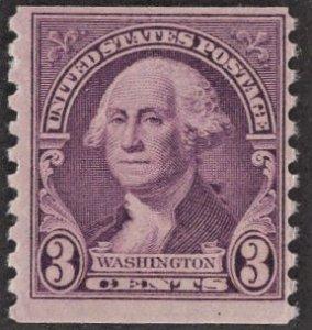 US 721 MNH VF 3 Cent Washington Coil Deep Violet