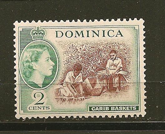 Dominica 144 Carib Baskets Mint Hinged