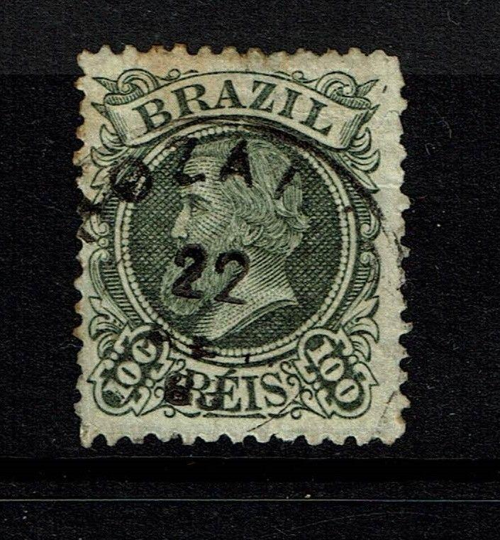 Brazil SC# 80, Used, very tiny top thin, minor toning - S77