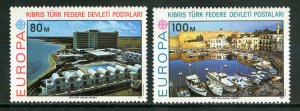 TURKEY-N.CYPRUS 41-2 MNH SCV $5.00 BIN $2.50 EUROPA