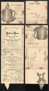 1917 New York City USA Mechican Advertising Cover to Argentina Hofbrau Haus Beer