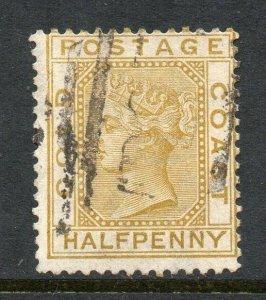 Gold Coast 1883 ½d olive-yellow wmk crown CA SG 9 used CV