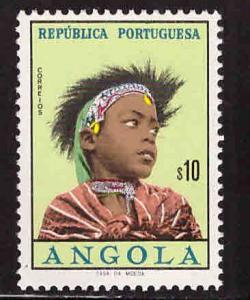 Angola  Scott 419 MNH* beautifull girls set