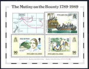 Pitcairn Islands Sc# 322 MNH Souvenir Sheet 1989 Bicentennial