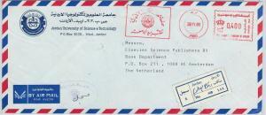 61231 - JORDAN - POSTAL HISTORY - RED MECHANICAL POSTMARK on COVER  university
