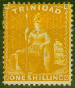 Trinidad 1876 1s Chrome-Yellow SG78 Good Mtd Mint