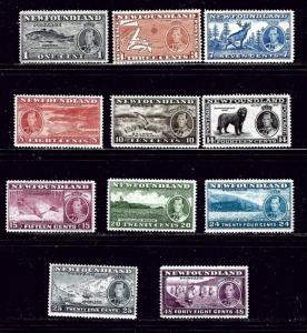 Newfoundland 233-43 MNH 1937 set