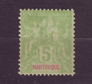 J23800 JLstamps 1892-1906 french martinique mh #37 design