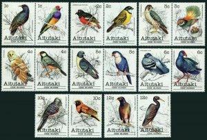 Aitutaki 215-246D,MNH.Michel 370-405. Bird 1981-1982.Names in description.