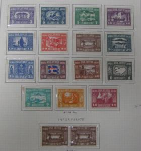 ICELAND COLLECTION 1873-1960, in Scott album, Mint NH & LH, Scott $22,725.00