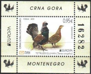 Montenegro. 2019. Birds, Europe-Sept. MVLH.