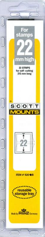 Scott Mounts Black 22mm STRIP 215 , (Pgk. 22) (00920B)