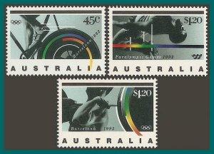 Australia 1992 Olympic Games, MNH  #1268-1270,SG1358-SG1360