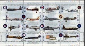 Canada 1999, S/Sheet, MNH, Air force Pane # 1808