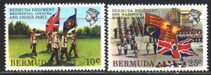 Bermuda. 1982. 412-13 from the series. Bermuda regiment, flags. MNH.