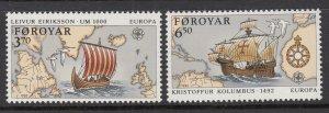Faroe Islands 236-237 MNH VF