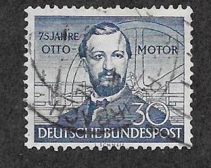 Germany #688 30pf deep blue N.A. Otto  (U) CV $12.50