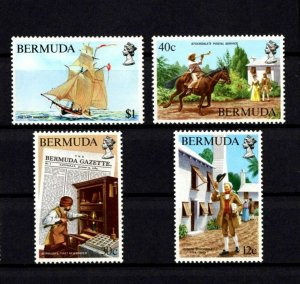 BERMUDA - 1984 - NEWSPAPER & POSTAL SERVICES - SHIP - STOCKDALE ++ MINT MNH SET!