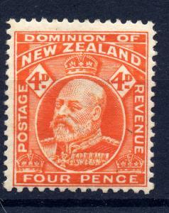 New Zealand 1902 sg 396 4d orange (line perf) LM