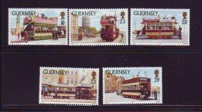 Guernsey Sc 503-7 1992 Historic Trams stamp set mint NH