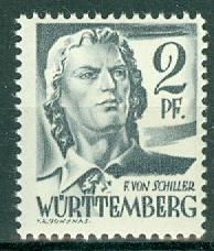 Germany - French Occupation - Wurttemberg - Scott 8N1  (SP)