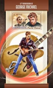 SIERRA LEONE - 2018 - 55th Birthday of George Michael - Perf Souv Sheet - M N H