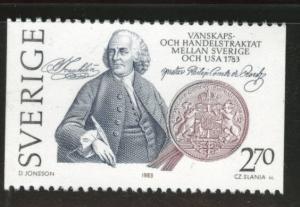 SWEDEN Scott 1453 MNH** 1983 US Bicentennial stamp