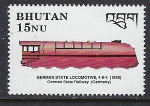 Bhutan 807 MNH 1990 Locomotive (ap6644)