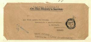CYPRUS OHMS Stationery Overprinted Original Album Page 1961 {samwells} AQ291