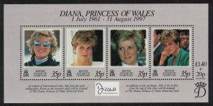 BAT Diana Princess of Wales Commemoration MS SG#MS280